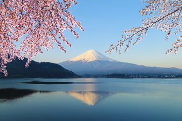 Fototapeta Mount Fuji, view from Lake Kawaguchiko