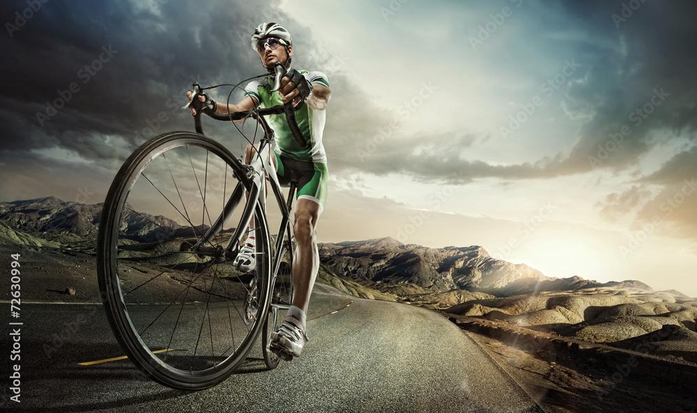 Fototapeta Sport. Road cyclist