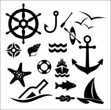 Marine Icon Set Vector
