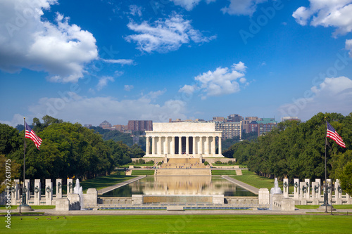 Photographie  Abraham Lincoln Memorial, Washington DC, Etats-Unis