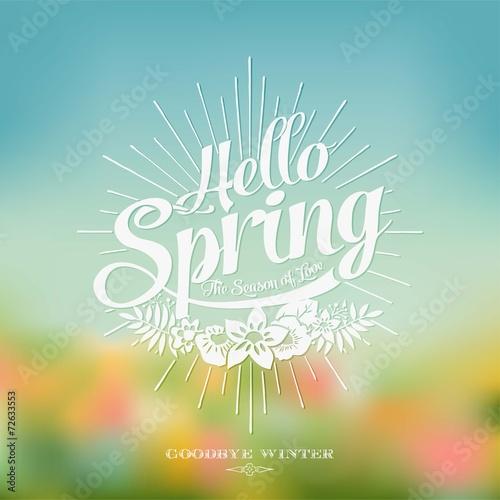 Fotografie, Obraz  Beautiful Typographical Spring Background