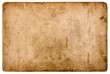 canvas print picture - aged stained paper sheet isolated on white background