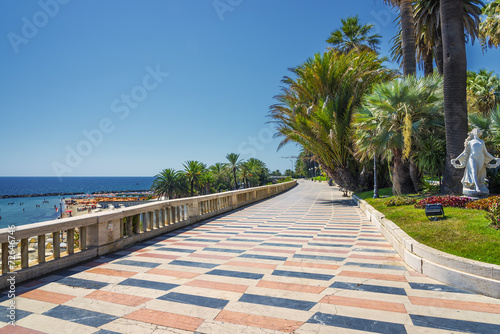 Stampa su Tela Promenade San Remo