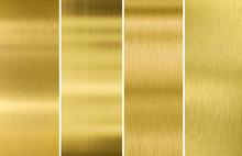 Gold Or Brass Brushed Metal Te...