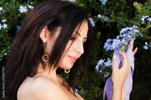 Fotografie, Obraz  ragazza fiori