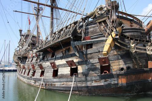 Canvas Prints Ship Wooden Galeone Neptune