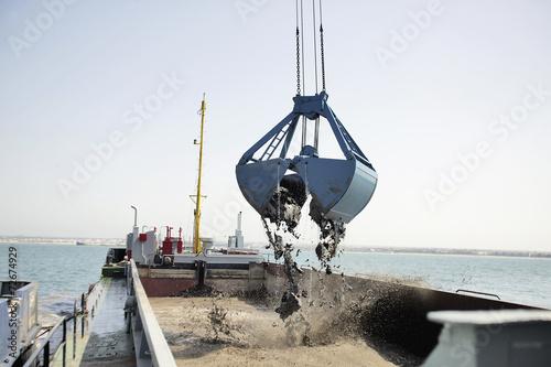 Fotografia, Obraz  Harbor Dredging