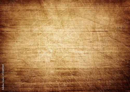 Tuinposter Hout Dark scratched grunge cutting board.