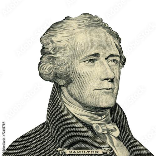 Fotografía President Alexander Hamilton portrait (Clipping path)