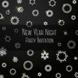 Black classic colored invitation on New Year Party, with