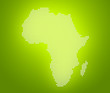 canvas print picture - Image of modern optimally dotted Africa map