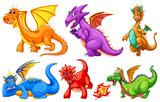 Fototapeta Dinusie - Dragons