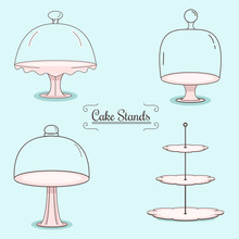 Set Of Cake Stands