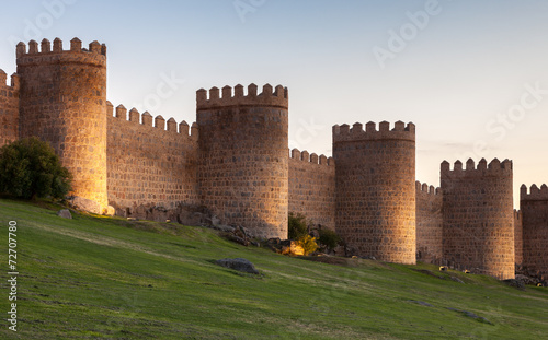 Papel de parede Ancient city wall in Avila, Castile and Leon, Spain