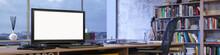 Panorama Vom Büro Mit Leerem ...