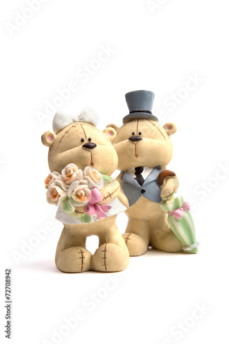 Canvas Prints Bears Bears the wedding clothes