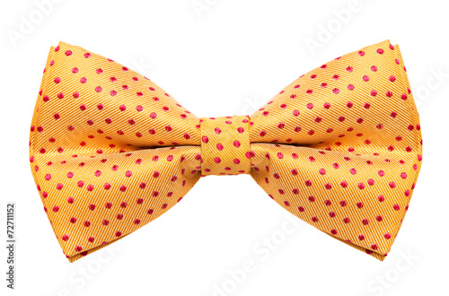 Funky polka dotted bow tie isolated on white background Fototapet