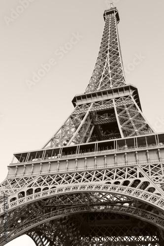 Deurstickers Eiffeltoren Looking up on Eiffel Tower, the most popular landmark of Paris
