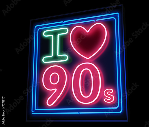Fotografia  I love the 90s neon