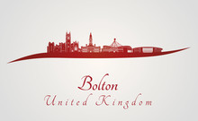 Bolton Skyline In Red