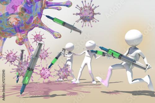 virus hunter Wallpaper Mural