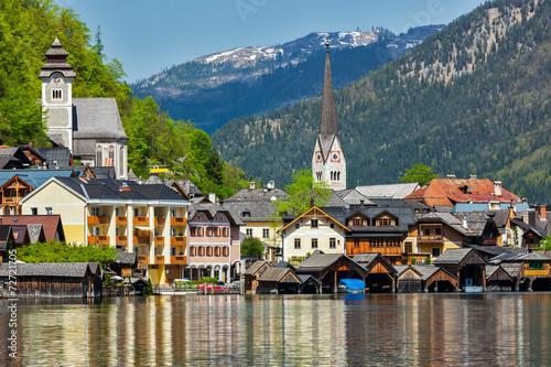 Fotografie, Obraz  Hallstatt village, Austria