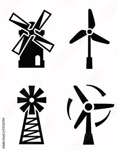 Fotografía  windmill icons