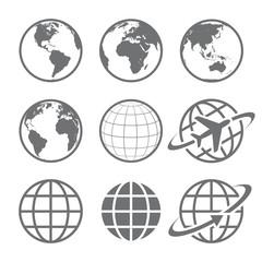 Fototapeta Earth globe Icon set