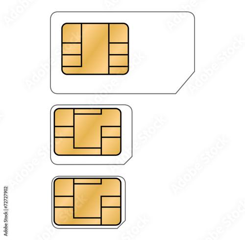 Nano Sim Karte.Micro Nano Sim Karte Vektor Freigestellt Buy This Stock
