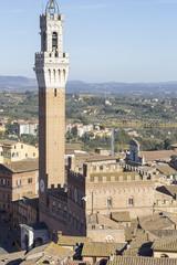 Panel Szklany Podświetlane Toskania Siena torre del mangia