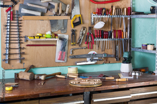 Obraz workbench of handyman - fototapety do salonu