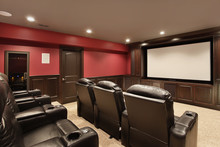 Theater In Luxury Home