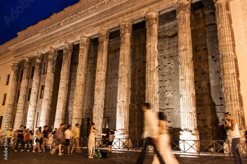 Photo  Temple of Emperor Adrian  in Rome