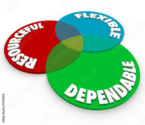 Dependable Resourceful Flexible 3d Words Venn Diagram Buy This