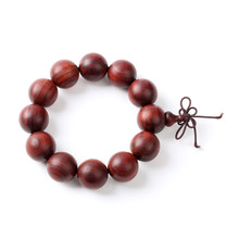 Wooden Bead Bracelet On White Background