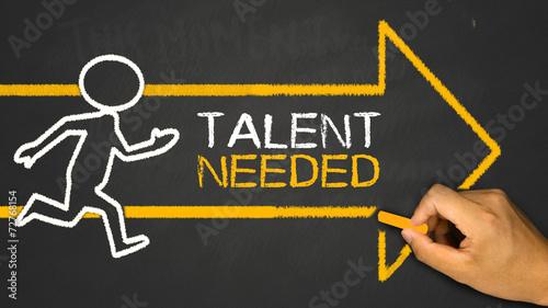 Obraz na plátně talent needed concept