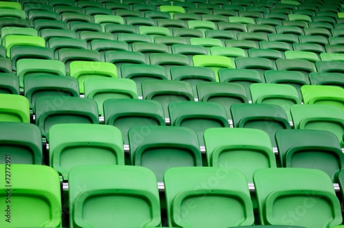 Papiers peints Stade de football Green stadium seats