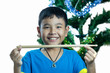 Asian kid hold drum stick