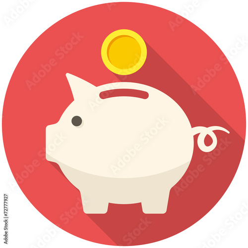 Fotografie, Obraz  Piggy bank icon