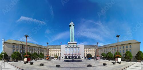 Czech republic, Ostrava, city hall and Prokes Square Poster