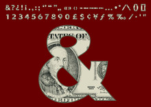 Dollars Banknote Style Font Se...
