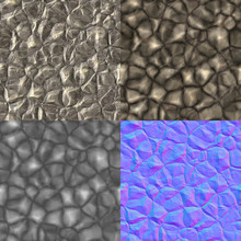 Rocks Seamless Generated Texture (with Diffuse, Bump And Normal