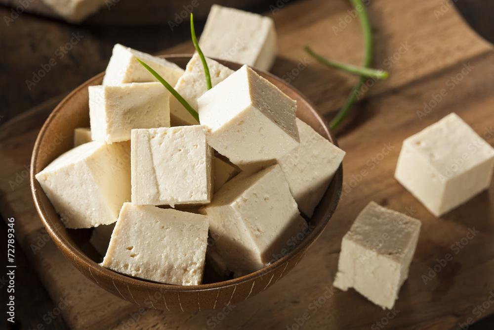 Photo  Organic Raw Soy Tofu