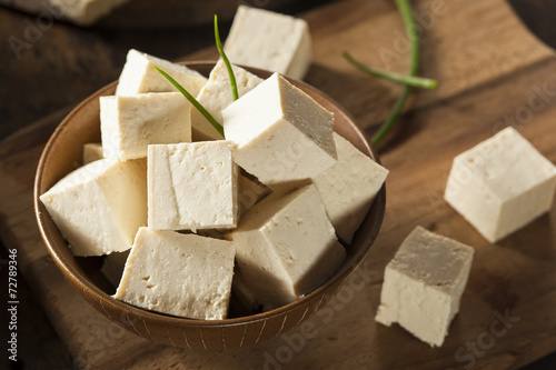 Organic Raw Soy Tofu Wallpaper Mural