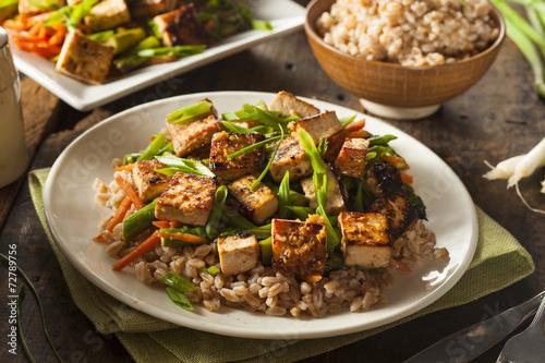 Homemade Tofu Stir Fry Canvas-taulu