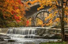 Beautiful Berea Falls In Autumn