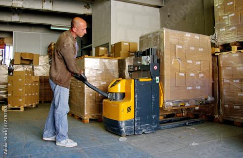 Cuadros en Lienzo Logistique servicio