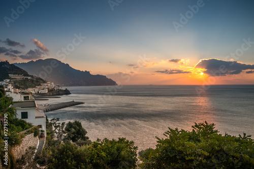 Aluminium Prints Santorini tramonto