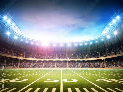Spoed Foto op Canvas Stadion light of american stadium