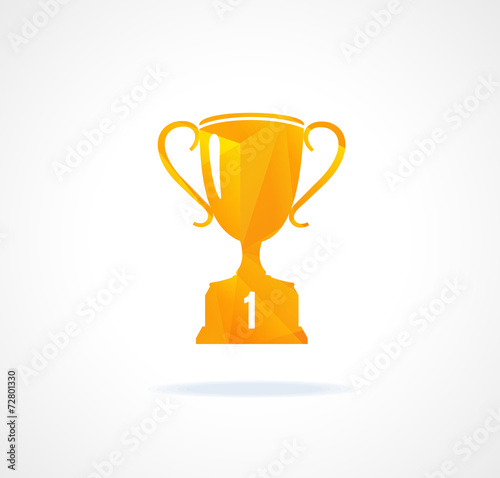 Fototapety, obrazy: Paper vector icon flat sports cup